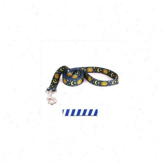 Yellow Dog Design Tsrbl106ld 1 Inch X 60 Inch Team Spirit Royal Blue And White Lead