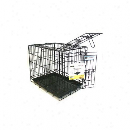 Yml Double Door Heavy Duty Dog Crate In Black