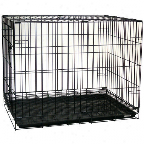 Yml Foldable Light Duty Door Dog Crate With Bottom Grate