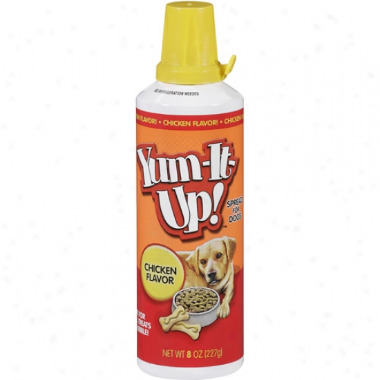 Yum-it-up! Chicken Flavor Spread oFr Dogs, 8 Oz