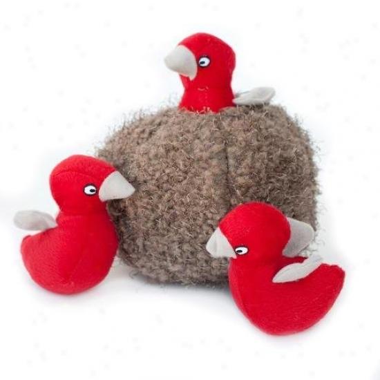 Zippy Burrow Bird Nest Squeaky Plush Hide-and-seek Dog Toy