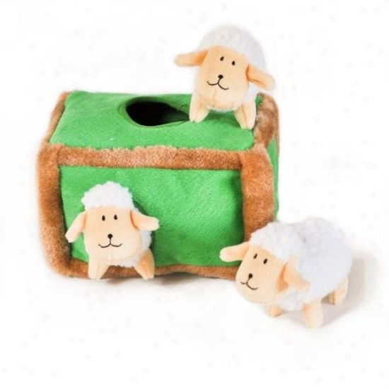 Zippy Burrow Sheep Pen Squeaky Plush Hide-and-seek Dog Toy