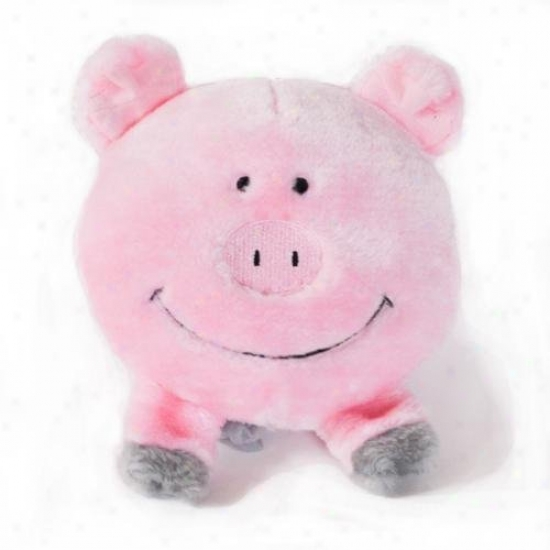 Zippypaws Brrainey Squeaky Plush Dog Toy Pig