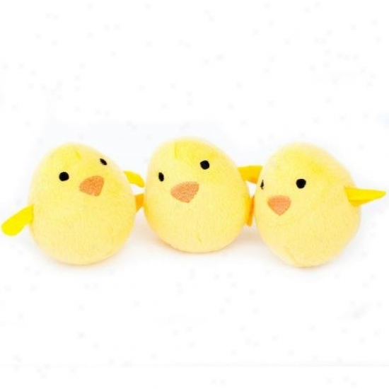 Zippypaws Burrow Refill Pack Of 3 Small Squeaky Dog Toys Chicks