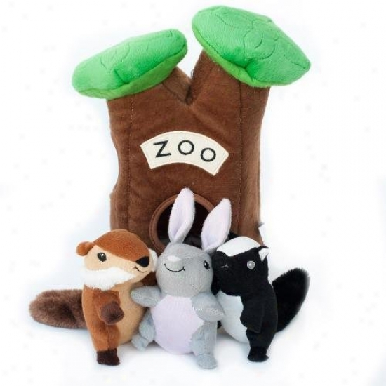 Zippypaws Burrow Zoo Interactive Hide And Seek Squeaky Plush Dog Toy