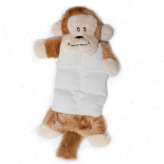 Zippypaws Canvas Chumz Squeaky Plush Dog Toy Monkey
