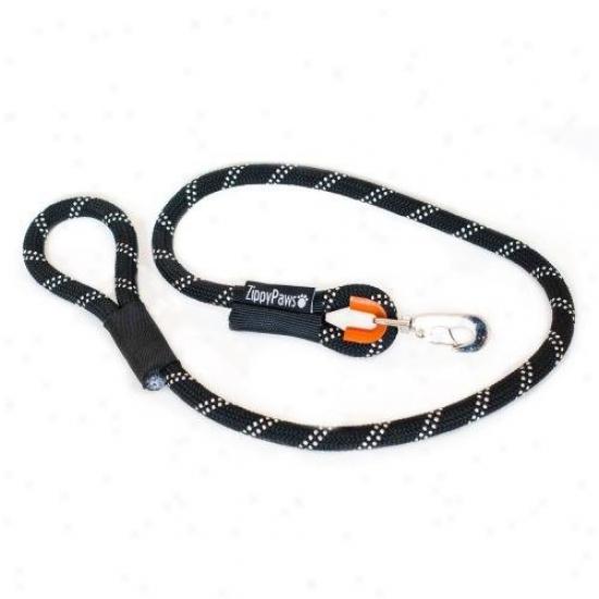Zippypaws Climbers Mountain Climbing Rope Dog Tie 4-feet Black