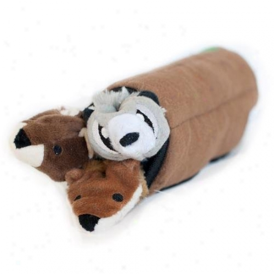 Zippypaws Roll-up Log Interactive Squeaky Plush Dog Toy
