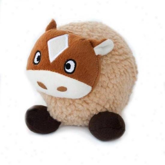 Zippypaws A~ Tubbiez Squeaky Plush Dog Toy Horse