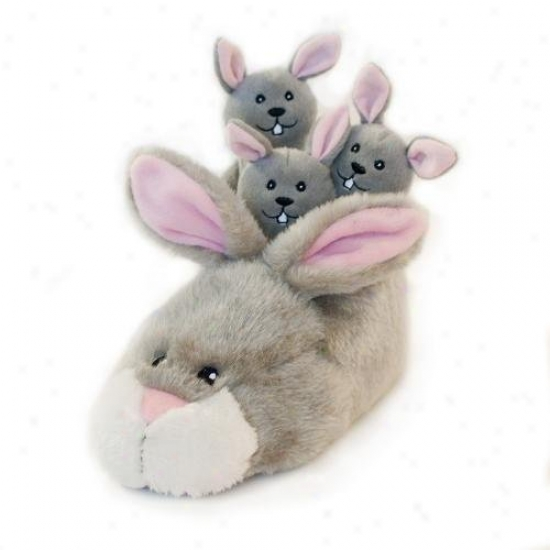 Zippypaws Slipper Nest Squewky Hide And Seek Plush Dog Toy Bunny
