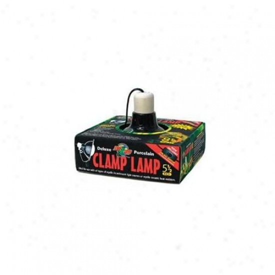 Zoo Med Labs 850-32110 Zoo Med Deluxe 5. 5in Porcelain Black Clamp Lamp For Reptiles
