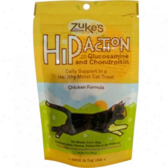 Zuke's Hip Deed  Natural Cat Treats Chicken 3 Oz