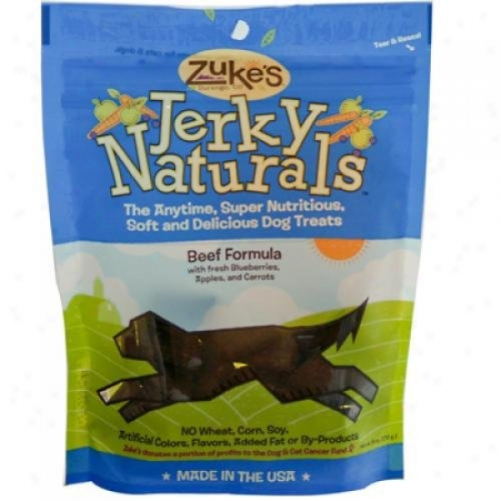 Zuke's Jerky Naturals For Dogs Beef 6 Oz