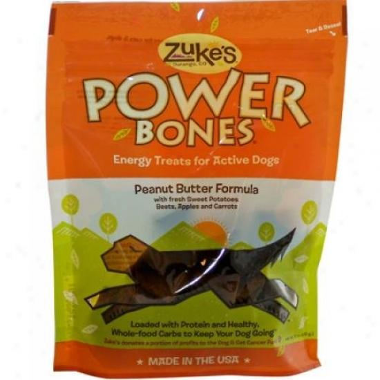 Zuke's Power Bones Dog Treats Peanut Butter 6 Oz