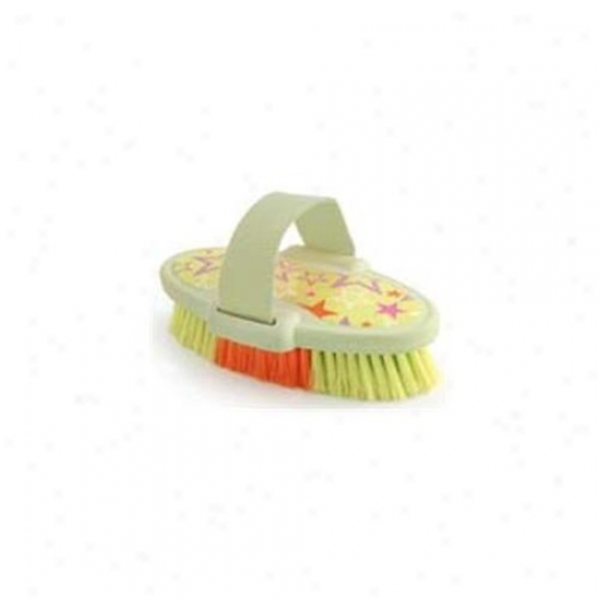 6. 75 Inch Luckystar Body Brush - Lime Green  - 2371-3