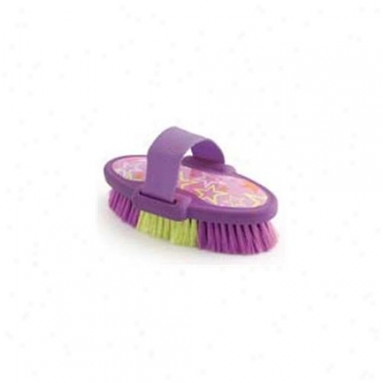 6. 75 Inch Luckystar Bdy Brush - Purple  - 2371-2