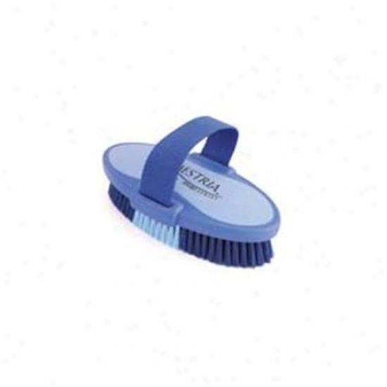 7. 5 Inch Large Equestrian Sport Oval Material substance Brush - Livid  - 2170-3