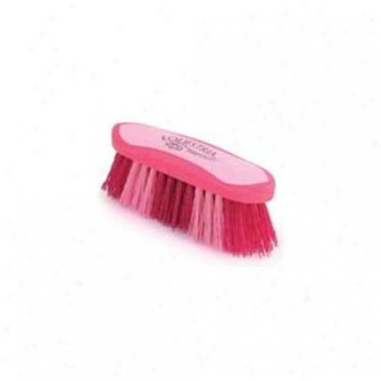 8 Inch Large Equestrian Sport Dandy Brush - Pink  - 21741-