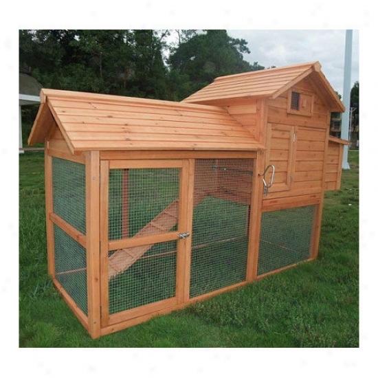 Aosom Llc Large Pawhut Chicken Coop