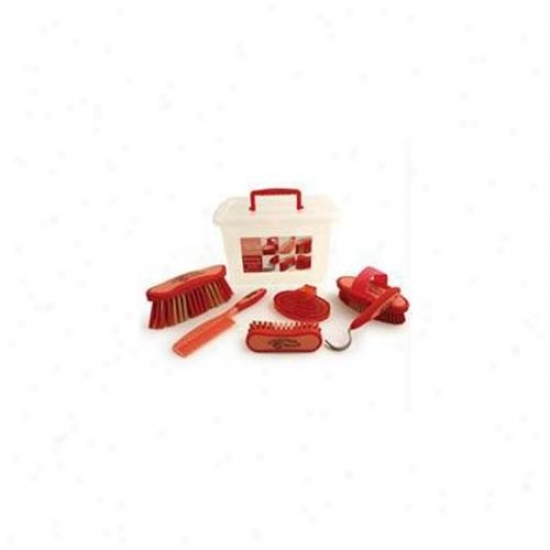 Desert Equeatrian Inc - Equestria Sport Grooming Essentials Set- Red 7 Piece