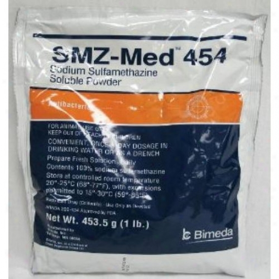Durvet 001-1sul006 Smz-med 454 Soluble Powder