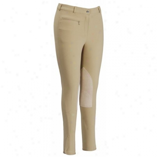 Ecogreen By Tuffrider Ladies Bamboo Knee Patch Lowrise Breeches
