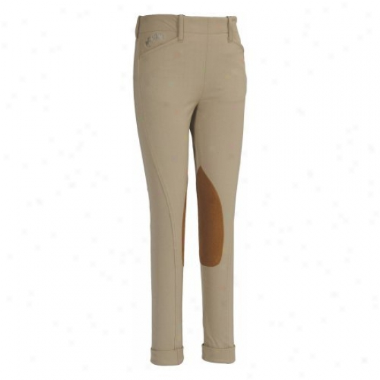 Equine Couture Childrens Coolmax Champion Side Zip Jods Breeches