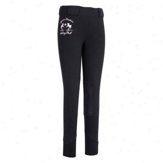 Equine Couture Childrens Riding Club Pull On Tights
