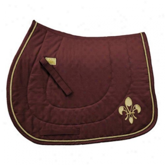 Equine Couture Fleur-de-lis Dressage Saddle Pad