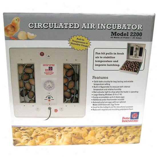 Farm Innovators Circulated Air Incubat0r In White
