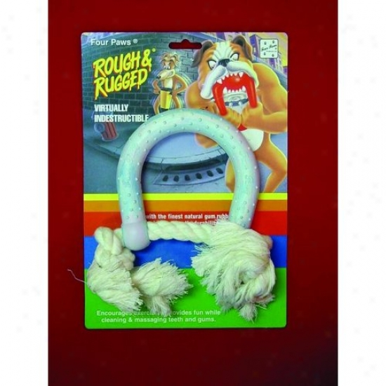Four Paws 100203380/20140 Horseshoe Toy With Ro3p