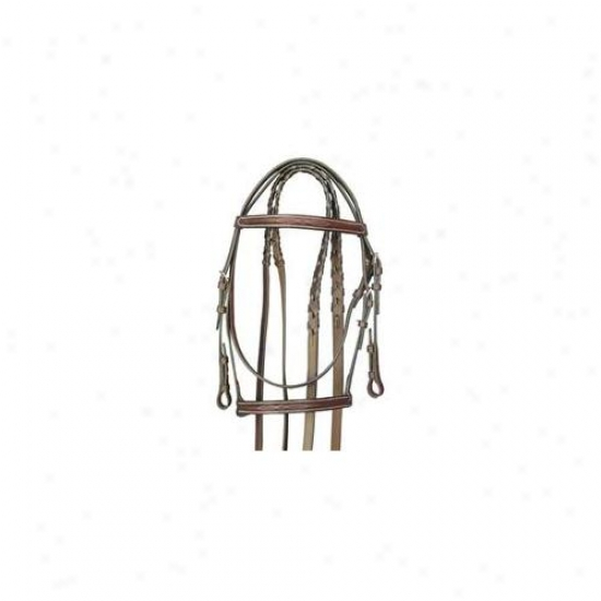 Gateby Leather Company - Fancy Snaffle Bridle- Havanna Btown Ckbb - 103-c Cob
