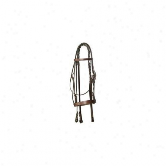 Gatsby Leather Company - Flat Snaffle Bridle- Havanna Brown Cobb - 102-c Cob