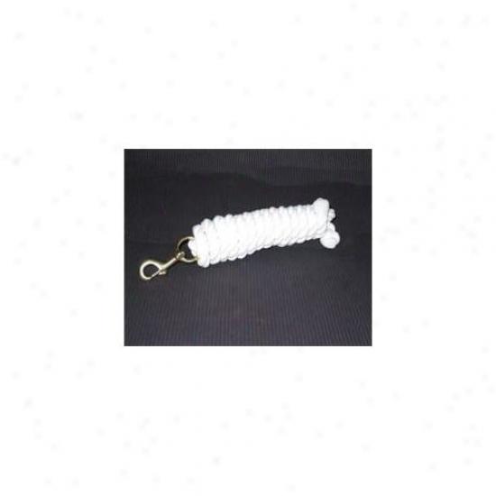 Hamilton Halter Company 3 4 Cotton Ld W B Bolt Snap White 10 Feet - Cl34b Wh