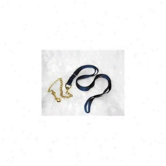 Hamilton Halter Company - Nylon Lead With Chain & Snap- Navy 7 Feet - 17d24 Nv
