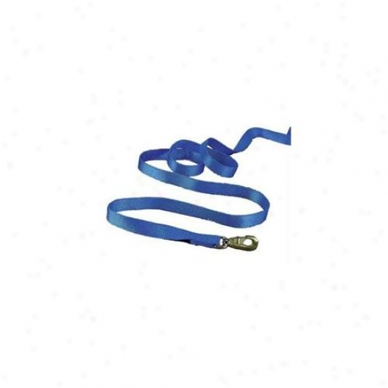 Hamilton Halter Company - Nylon Lead With Crackle Particular Thick- Blue 7 Feet - 14d Bl