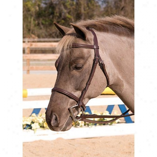 Henri De Rivel Contribute Fancy Raised Snaffle Bridle With Laced Reins
