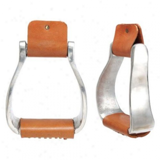 Kelly Silver Star Curved Aluminum Stirrup