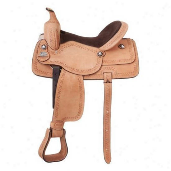 King Series Cowboy Roughout Saddle With Serpentine Tooling