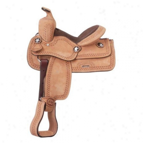 King Series Youth Cowboy Rughout Saddle With Serpentine Tooling