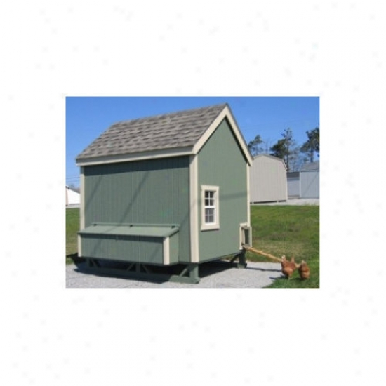 Little Cottage Company 6 X 8 Colonial Gable Chicken Coop
