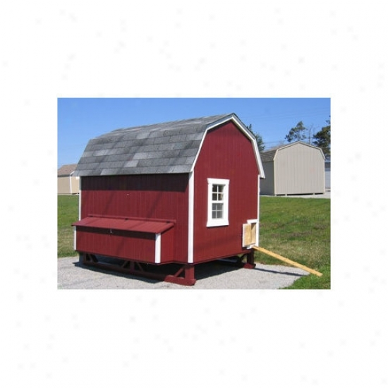 Little Cottage Company 6 X 8 Gambrel Barn Chicken Confine
