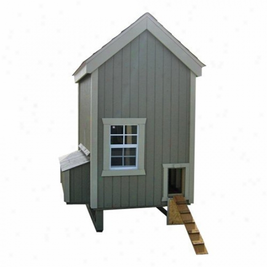 Little Cottage Unpainted Colonial Gable Chicken Coop - Feeble