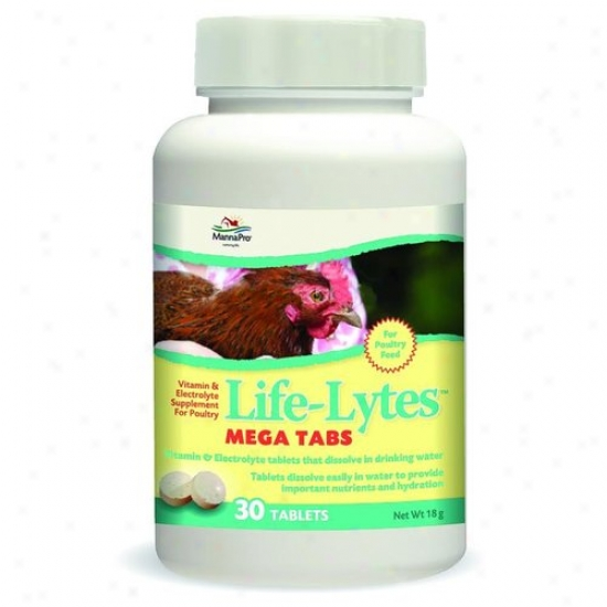 Majna Pro 00-0215-9908 Life-lytes Mega Tabs Supplmeent For Poultry