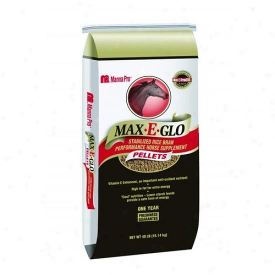 Manna Pro 05-9392-7140 Max-e-glo Rice Bran Pellet With Calcium