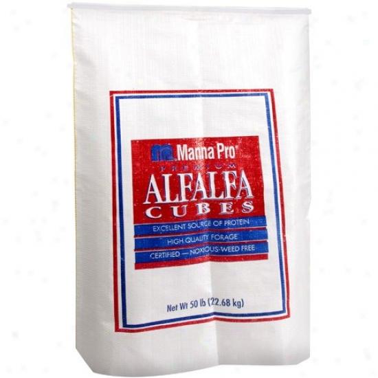 Manna Pro  Premium: Alfalfa Cubes, 50 Lb