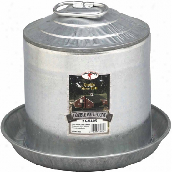 Miller Manufacturing 9832 2 Gallon Double Wall Fount