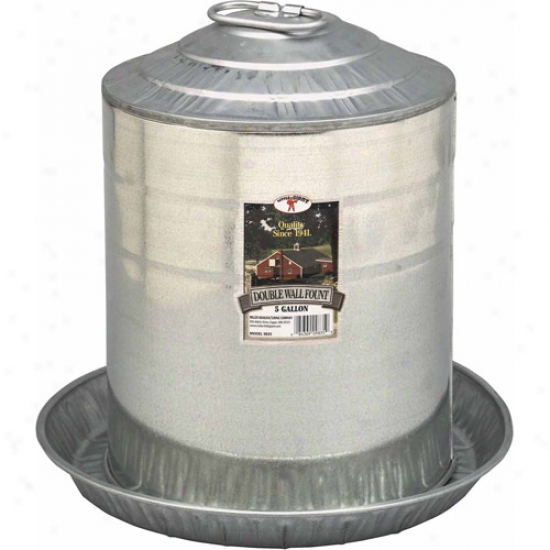 Miller Manufacturing 985 5 Gallon Double Wall Fount