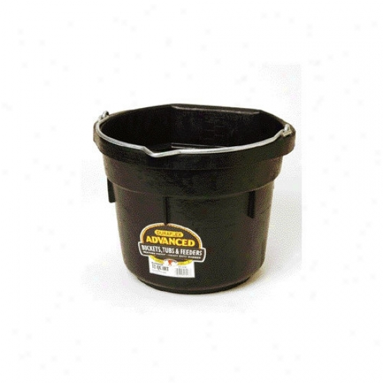 Miller Mfg Flat Back Pail In Black