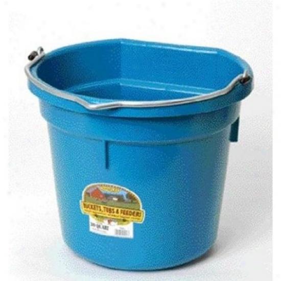 Miller P20fbteal Flat Back Plastic Bucket